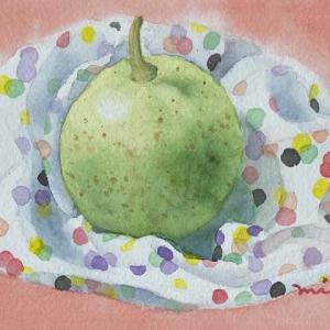 梨を描く〜♪