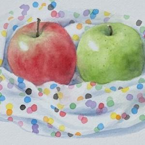 りんごを描く~♪