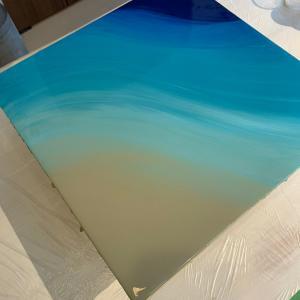 エポキシレジンで波のアート
