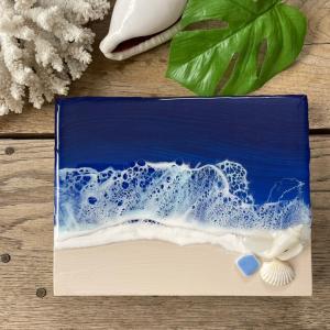 小さな波のアートパネル