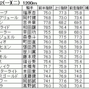 2020年7月9日(木)大井競馬後半5鞍 指数表&分析表
