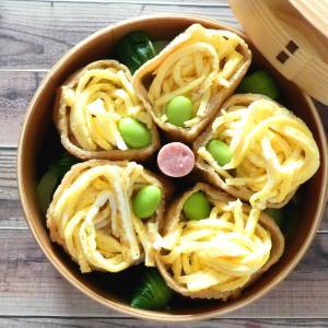 お稲荷さんと葱とぼんじりの大蒜味噌炒め