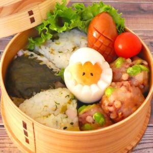 枝豆入りイカとはんぺんの団子&大蒜の芽と豆腐の鳥もつ煮