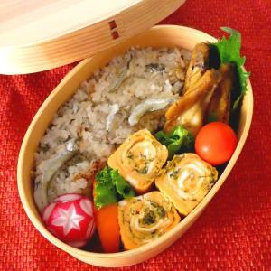 お弁当と鮭のちゃんちゃん焼き