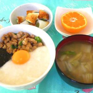 ねばねば丼と天ぷら定食