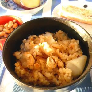 あさりと葱の混ぜご飯朝食