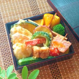 天丼弁当とムール貝のパエリア