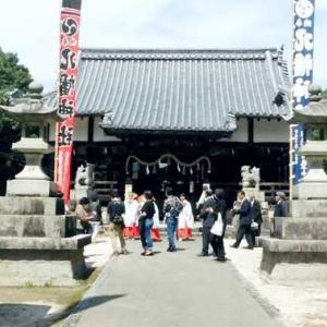 新型コロナの影響 八幡神社拝殿で神事