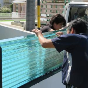 積層ガラス現場設置