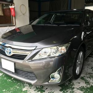 【シートカバー】 トヨタ 50カムリ トヨタ ヤリスHVにクラッツィオシートカバー取り付けです