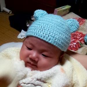 ベビー帽子に挑戦しました!