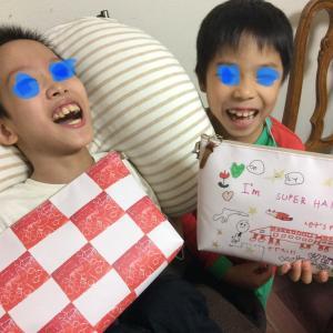 子どもの描いた絵が、カバンに〜(^ ^)