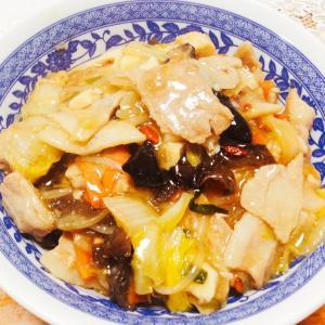 厚揚げ入り中華丼♪( ´▽`)