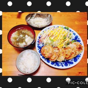 生姜青しそごぼうつくね豆腐焼き♪( ´▽`)