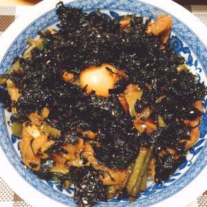 焼き肉えごま韓国海苔卵丼♪( ´▽`)