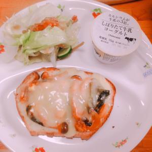 具沢山ピザトースト♪( ´▽`)