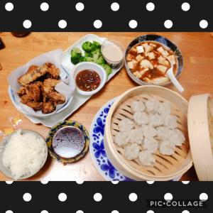 焼売にマーボー豆腐にサバ唐揚げ