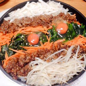 フライパンビビンバ&韓国風冷麺♪( ´▽`)