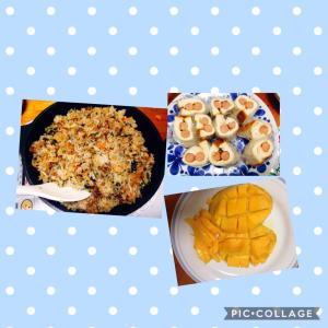 ソーセージチーズロールと二度目のビビンバ炒飯
