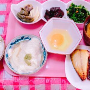 塩サバ朝食♪( ´▽`)