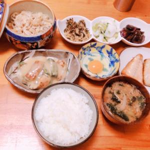 美味しいお米で朝ごはん♪( ´▽`)