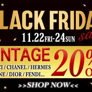 【3日間限定20%OFF】BLACK FRIDAY SALE!!