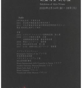 656.しぶや 黒田陶苑:新里明士新作展