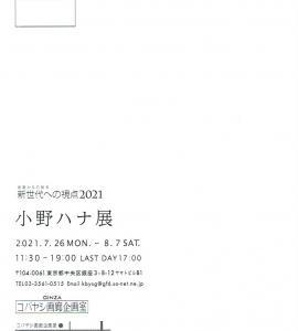 4649 コバヤシ画廊(中央区銀座3-8):新世代への視点2021 小野ハナ展