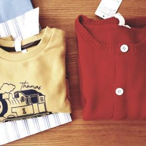 ポチ&購入してきた子供服。