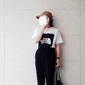 購入したノースフェイスのTシャツ~コーデ★