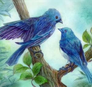 Blue Birds 2   此処に家をつくろうか (ほぼ完成)