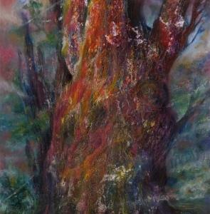 [暁の縄文樹」 M25 キャンパスで。
