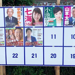 今日は都知事選挙の日…だった。
