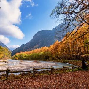 晩秋の上高地へ行ってきます