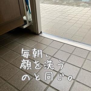 簡単!ウェットティッシュで玄関掃除
