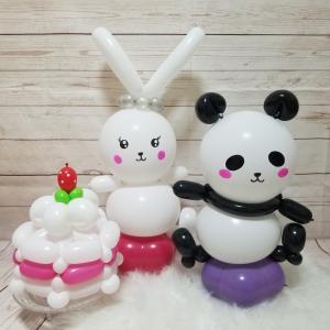 【10月お誕生日セット】リバーシブル/白いうさぎとパンダ