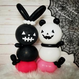 【10月お誕生日セット】ハロウィン/黒いうさぎとパンダ