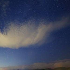 夜に星景、「雨晴詣で」、そして新幹線~