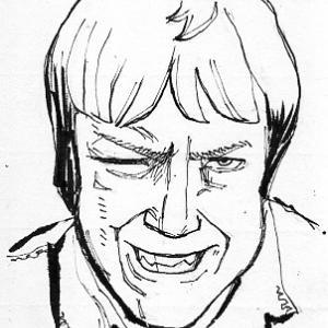 怒り顔正面像イラスト 33歳男コーカソイド