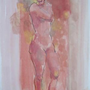 裸婦立像 ペンクロッキー