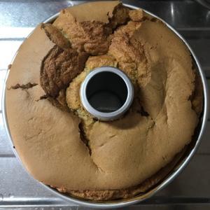 カフェインレスコーヒーマーブルシフォンを焼きました