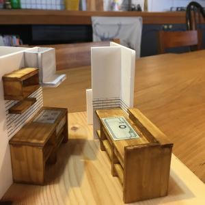 平屋のFPの家のキッチン模型