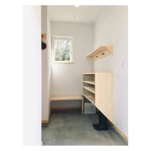 【製作実例】土間玄関に靴箱