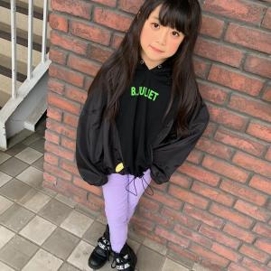 ♡韓国子供服ミルティ名東店♡ BLACK×PURPLE おすすめ春コーデ❀
