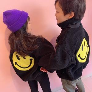 ♡韓国子供服ミルティ名東店♡ ユニセックス☆彡ニコちゃんボアジャケット♪