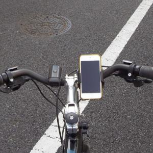 通勤自転車にMINOURA スマートフォンホルダーを付けました。