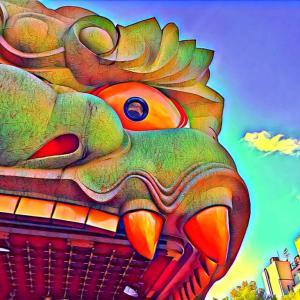 巨大な獅子で疫病退散!難波八阪神社に行ってきました♪