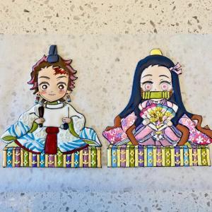 鬼滅の刃★炭治郎と禰豆子のおひなさまアイシングクッキー