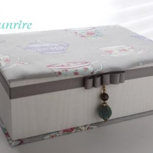 カルトナージュの小物たち専用♪の収納ボックスできました!【カルトナージュMy作品】