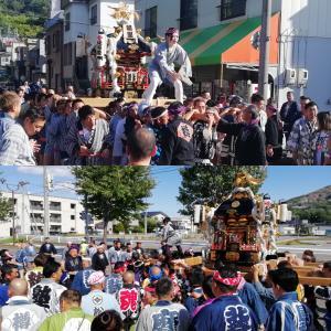 昨日は小樽市朝里神社例大祭神輿渡御 r01.09.02